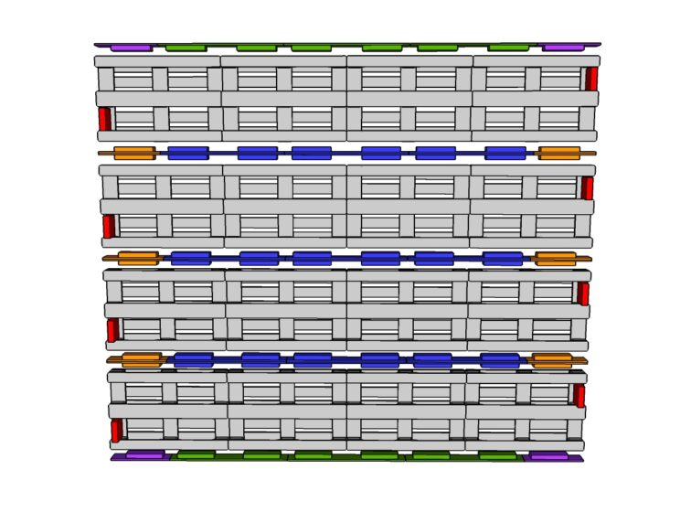Mur-4-palettes par 4