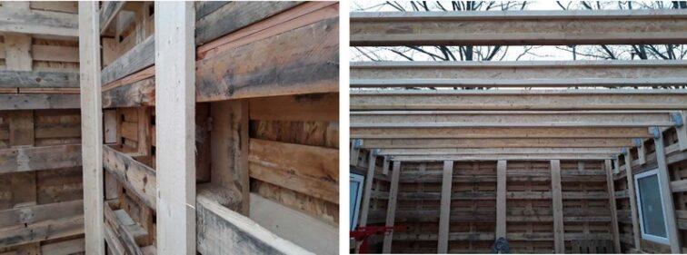 toit exemple montage kit palettes 42m2