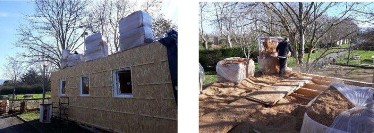 isolation toiture exemple montage kit palettes 42m2